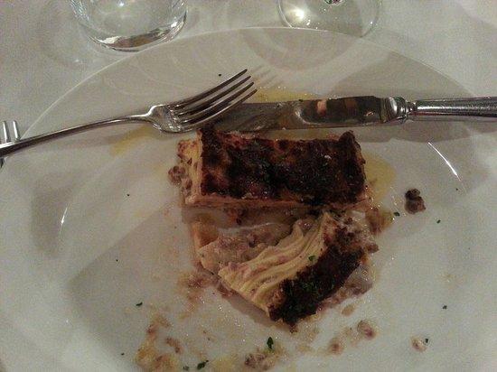 Fiaschetteria Toscana : Lasagnes bien grasses et immangeables