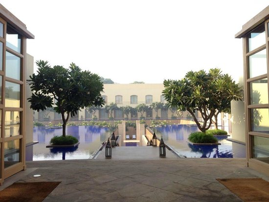 Trident, Gurgaon : View from the interior pool area