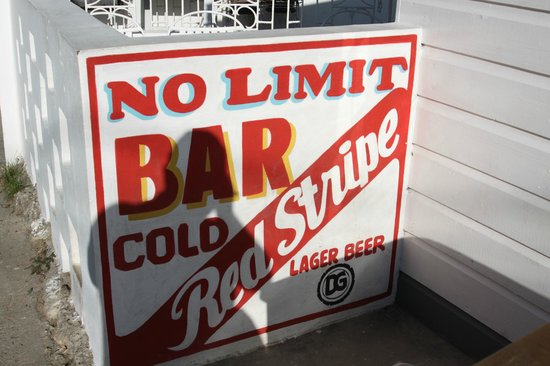 One Love Bus Bar Crawl: as the sign states this whole tour is no limit.....