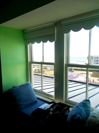 "Congress Hall : 4th floor has window seat with ""ocean view"""