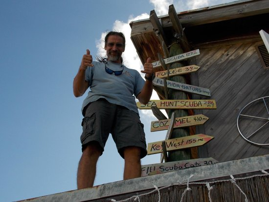 South Florida Diving Headquarters: Our fearless Skipper!