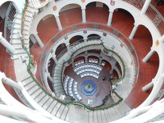 The Mission Inn Hotel and Spa: Looking down from the top of the Rotunda.