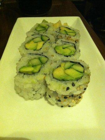 Izakaya in Borgata Hotel: Cucumber/avocado rolls: average