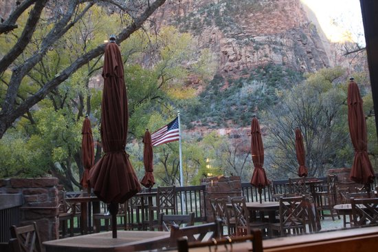 Zion Lodge: View from the restaurant