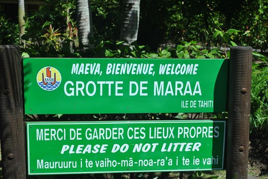 Maraa Grotto: The entrance to the attraction