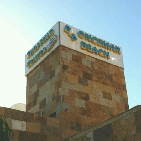 Broncemar Beach: The state of the resort sign says it all...