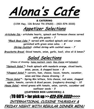 Cafe Alona: MENU