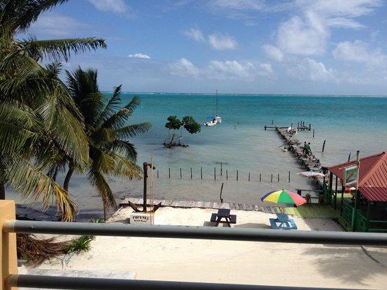 Popeyes Beach Resort: View from third floor balcony