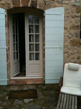 La Bastide de Moustiers : The back porch to the room