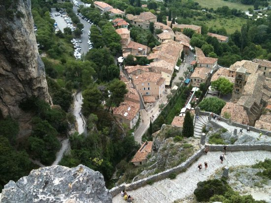 La Bastide de Moustiers : Looking down on the Village from above