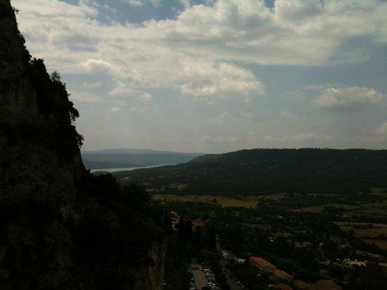 La Bastide de Moustiers : View out from the hills above the village