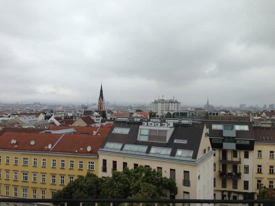 Novum Hotel Prinz Eugen Wien: Вид из номера на город Hotel Prinz Eugen****