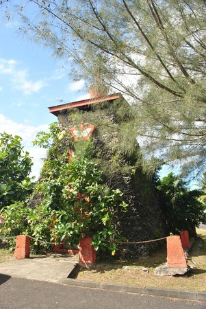 The very overgrown Tomb of King Pomare V