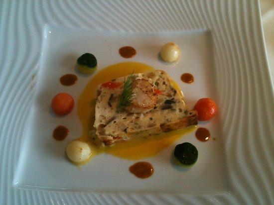 Restaurant Kasbur : Référence aux grandes table d'Antan: le marbré de St Jacques