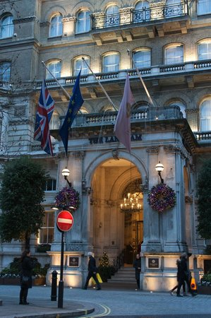 Entrance to The Langham, London, England