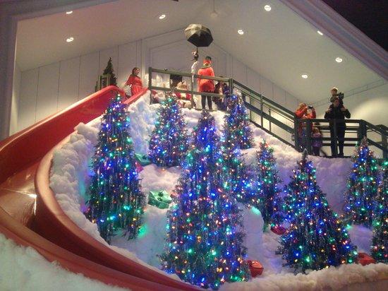 castle noel christmas story higbees santa slide set - What Year Is Christmas Story Set