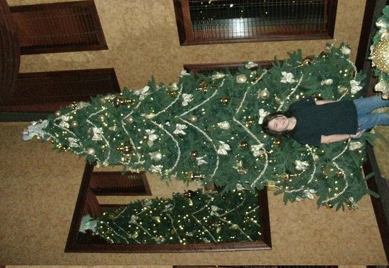 Best Western Kirkwood Inn: The entrance way all decorated for Christmas