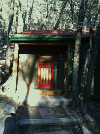 The Butterfly Garden Inn : The front door of our Cabin