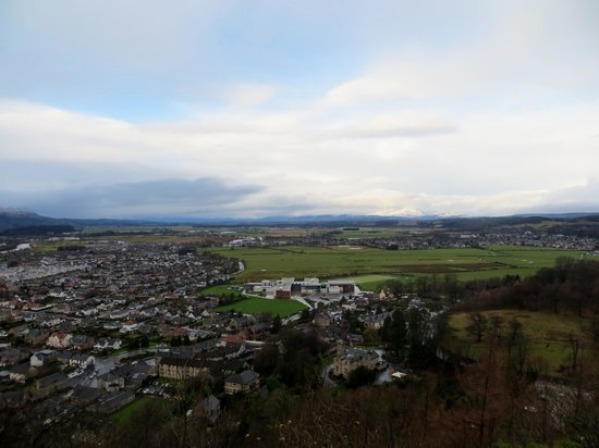 The Hairy Coo - Free Scottish Highlands Tour : A view of Stirling from the memorial