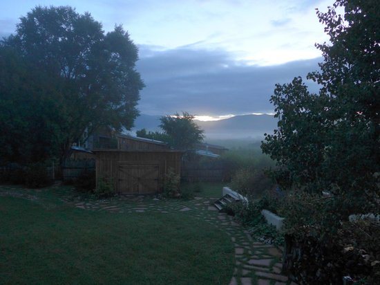 Casa Gallina: View from Bantam Roost Private Deck Dawn