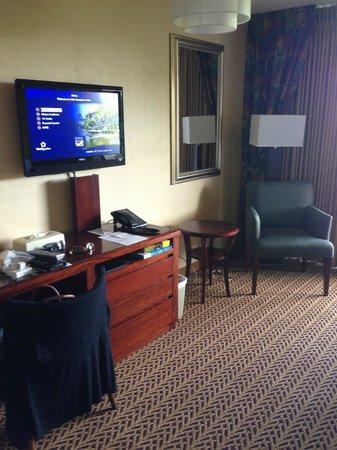 Castle Hilo Hawaiian Hotel: Flat screen tv and desk