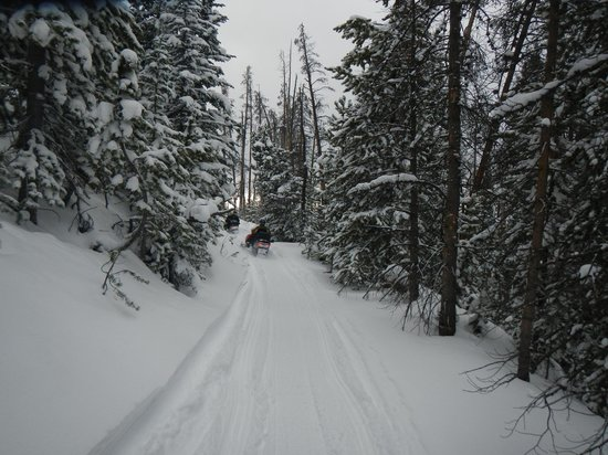 Aspen Canyon Ranch: One of the great snowmobile trails