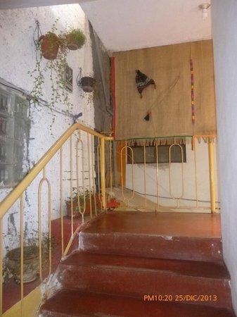 posada inka manco capac escaleras rsticas
