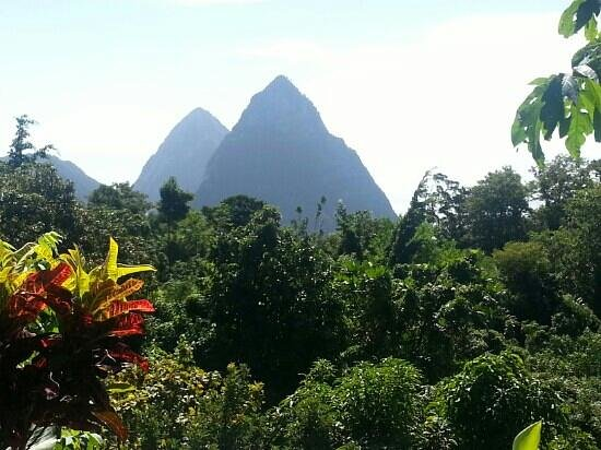 Crystals: Piton view from Calabash