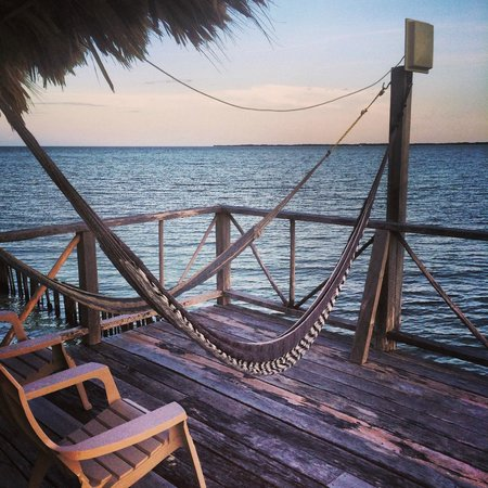Thatch Caye Resort : View from my balcony in the Cabana