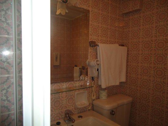 Victoria Hotel: detalhe do banheiro