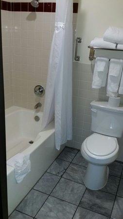 Folk Inn Ontario Airport: White Clean bathtub. Nice.