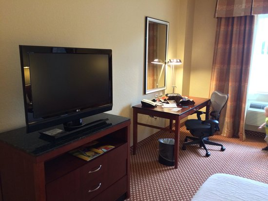 Hilton Garden Inn Palm Beach Gardens: Work desk and tv