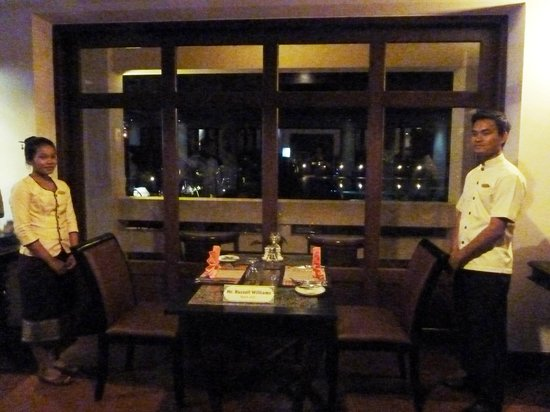 Royal Angkor Resort & Spa: Special table reserved for two