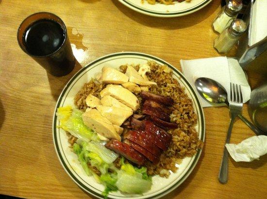 Sun Sai Gai: chicken and pork
