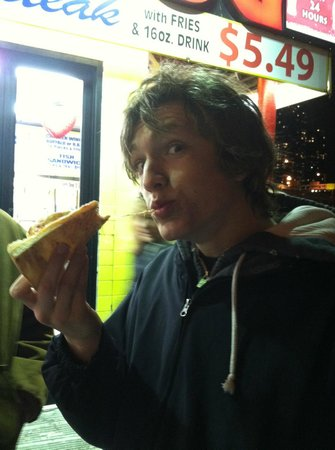 99 Cent Fresh Pizza: hot cheese