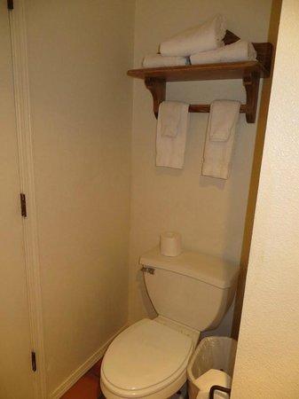 The Santa Fe Suites: toilet behind the door