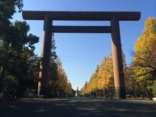 Yasukuni Shrine: 大鳥居