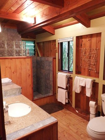Volcano Village Lodge: heated towel rack