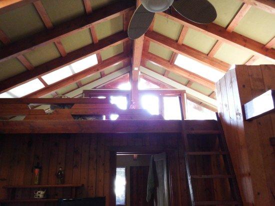 Volcano Village Lodge: This is the loft at sunrise