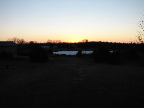Stoutsville, MO: Sunrise from the deck of the Lodge at Mark Twain Lake