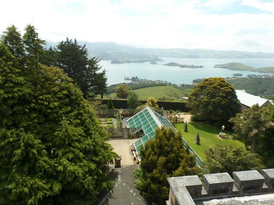 Headfirst Travel - Day Tours: View from rooftop of Larnach Castle