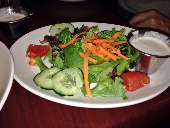 Black Walnut Cafe - The Woodlands: House Salad with Homemade Ranch Dressing