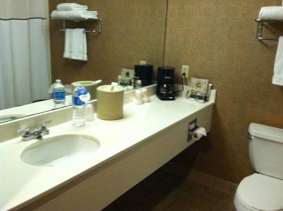 Capitol Plaza Hotel Topeka : nice clean bathroom with lots of room