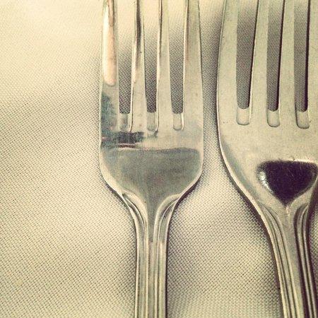 Table setting at Monniche Restaurant