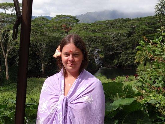 Kauai's Hindu Monastery : Me behind the monastery
