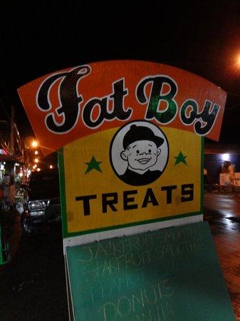 Fat Boy Treats : Street sign