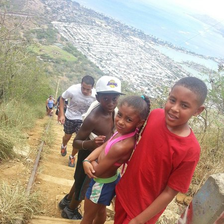 Koko Crater Trail: Kids made it. .. no problem.