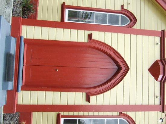 St Joseph's Church: front door - Church