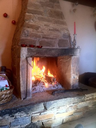 Lavanda Bed & Breakfast : Fireplace