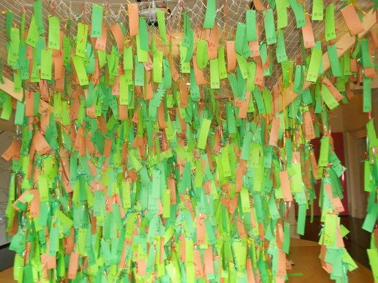 Museo de la Inmigración: Japanese Wishing tree. Add your own wish.